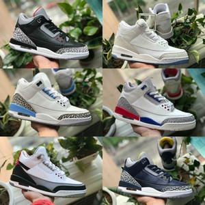 С Box 2019 Новые 3s Pure White 3 Mens Basketball обувь Тинкер Katrina JTH штрафном броске Linell Чикаго OG Royal Black Цементные Дизайнерские кроссовки