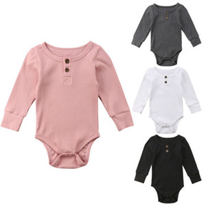 News Newborn Baby Boy Boy Boys Girls Infantil Manga Larga Mono Botón Body Sueño de vestir de ropa