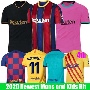 2019 2020 FC Barcelona Fußball-Trikots 10 Messi 21 F.DE JONG 17 Griezmann 11 O.DEMBELE Player in Version Men + Kids Kit Set Uniform Jersey
