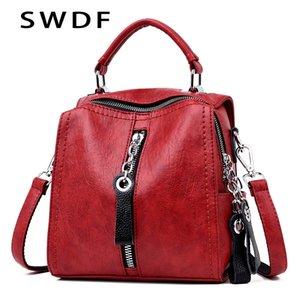 SWDF Bag for women 2019 Designer Shoulder Crossbody Bag PU Leather Handbags Women Bags for Women Multifunction Bag Big Tote Sac MX200324