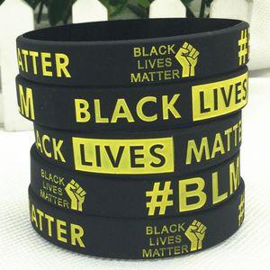 BLACK LEBT MATTER Armband Ich kann nicht Silikon-Armband Gummi-Armband-Armband-Brief-Handgelenk-Band OOA8166 Breathe