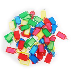 60pcs multi-couleurs en plastique Id clé Fobs Etiquettes de bagages étiquettes avec porte-clés (color) aléatoire MX190816