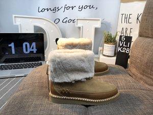 Nike Air Force 1 2020 neue Dakota Tüllschleife Dakota Damen Schafe Schafspelz klassische Schneeschuhe Leder Kuh wasserabweisend Flip Pelz Ober warme Schuhe Beschichtung