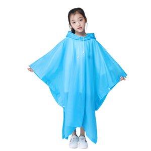 Preuve de l'eau Manteau de capot d'urgence pluie transparent en plastique épais extérieur en eau vive Poncho Rainwear Kid Garçon Fille Raincoat Multi Color 4 2CJ E19