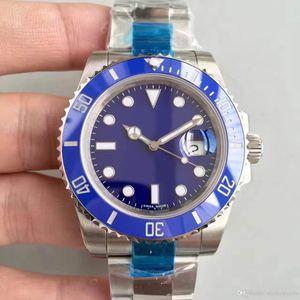 Reloj 40MM Anillo de cerámica Serie 116619LB Dial azul Movimiento automático Zafiro Espejo Correa de acero inoxidable 316L Clásico Bestseller1