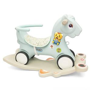 Bicicletas niños Riding 3 en 1 bebé mecedora Correpasillos deportes al aire libre Jugar Montar el caballo del juguete hogar Paseo en Animal Juguetes plástico del bebé Walker Ki
