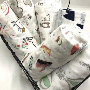 % 100 bambu elyaf muslin bebek battaniyesi swaddles yumuşak yenidoğan battaniye banyo gazlı bez bebek Wrap sleepsack puset kapak oyun mat Y200109