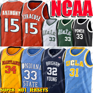 NCAA Carmelo Jersey Anthony Larry 33 Bird Jerseys Reggie Jersey Miller 32 Jimmer Fredette Jerseys Earvin Jersey Johnson Indiana College 4-20