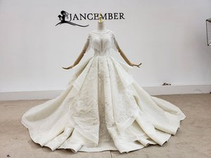 2020 new star big tailed super xiansen crystal tassel shiny spray gold hot stamping lotus leaf wedding dress