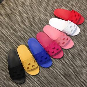 2019ss damenmode offene runde spitze slip on gummi rutsche sandalen mädchen kausalen strandmüßiggänger größe euro 35-41