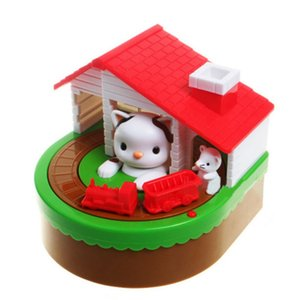 Cute Mouse And Cat Piggy Bank With Music NEW Electronic Piggy Bank Coins Saving Box Desk Toy For Kids Birthday Christmas Gift 20