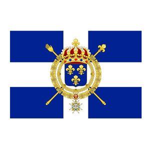 Франция Merchant Ensign Новой Франции Морской флаг 3x5ft 150x90cm Печать 100D полиэстер Украшение Флаг с латунными креплениями Бесплатная доставка