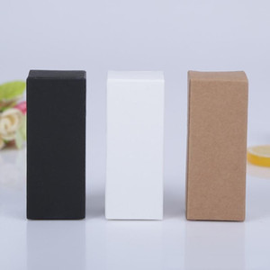 13 Size Essential Oil Bottle Packing Box Lipstick Perfume Cosmetics Gift Box Black White Kraft Paper Cardboard Boxes