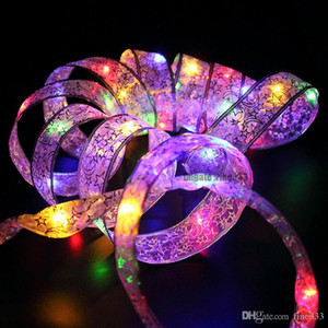 4M Silk Ribbon String Lights For Wedding Christmas Holiday Party Garden Home Decoration LED Lamp Battery-Powered 40Leds Lighting