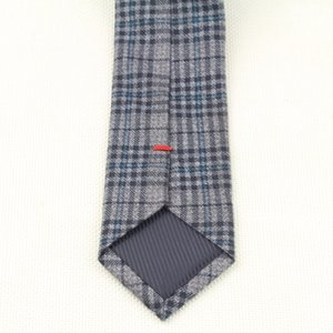 Soft Mens Fashion Diamond Check Artificial Wool Cotton Solid Skinny Ties Men Business Small Ties Designer Cravat