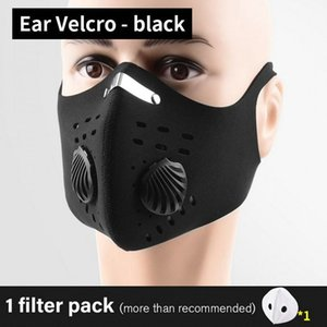 2 5 10 11 21 Sport Face Mask With Filter Set Activated Carbon PM 25 Anti Pollution Running Training Facemask MTB hairclippersshop NpJoM