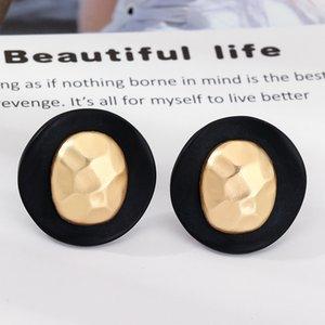 Mode Rétro géométrique Boucles d'oreilles rondes avec Goujons irrégulière en alliage EZ2469 Boucles d'oreilles cadeau pour Party meilleur ami