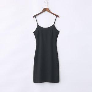 falda condole interior de la toma render mostrar deslizamiento fina floja ajustable chaleco largo -006