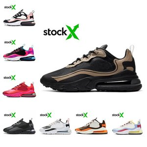 Hot Stock X Men React Running Shoes Unisex Pastel PLUM CHALK Electronic Music JDI SLOGAN Travis Scotts Grey Women Sports Sneakers Runner