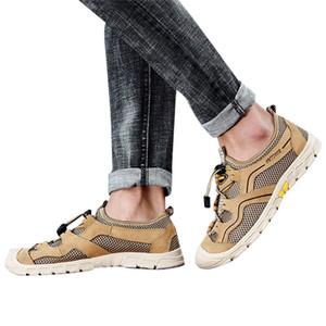 Summer Men's Outdoor River Shoes Mesh Breathable Hiking Shoes Sneakers Mans footwear terlik kapcie Slides 40jy15