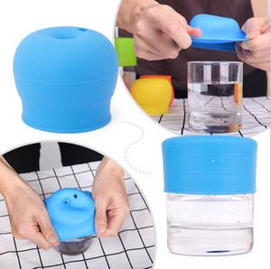 Здоровые силиконовые Сиппи крышки детские Сиппи чашки посуда крышка анти переполнение герметичные мягкие соломенные крышки сосание чаша крышка 5 цветов LXL16