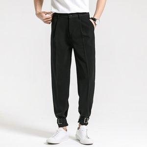 2020 Suit Pantolon Erkekler Elbise Pantolon Moda Suit Gevşek Nedensel Pantolon Erkek Takım Elbise Klasik Haki Pantolon Streetwear