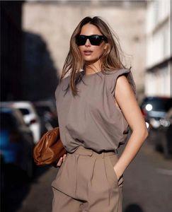 Hot Womens Tshirts Fashion Losse Tank Top Tees Casual Natural Color Crew Neck Tees Womens Clothes Summer