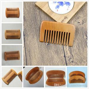 محفورة الخشب البيئي مشط مخصص تصميم لحية مشط مخصصة أمشاط الليزر مشط خشبي الشعر للنساء الرجال الاستمالة