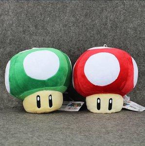 Super Mario Mushroom Plush Toys Red Mushroom Cogumelo verde de pelúcia bonecas 20 centímetros sapo de pelúcia Toy Dolls