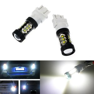 2PCS 80W 3157 LED Tail Stop Brake Light Lamp Bulb 4057 4157 Super White High Power