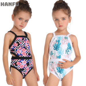 Ärmel Kind-Mädchen-Kind-Badebekleidung One Piece Swimwears Für Baby-Sommer-Badeanzug Kleiner Badeanzug