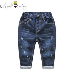 Дети Broken Hole Jeans 2-6year Детская модная одежда повседневные брюки для девочек и мальчиков J190522