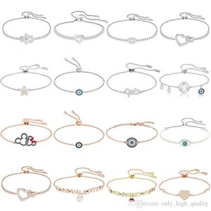 High quality original 925 Sterling Silver New heart-shaped adjustable length bracelet, suitable for women to attend banquet as a gift.