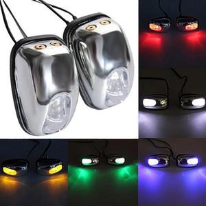 NUOVO 1 paio luce auto del LED parabrezza Parabrezza Jet Spray Nozzle Wiper Rondella della lampada