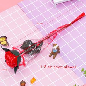 Día de San Valentín LED Rose flores de colores falsos luminosa casa flores de la boda Decoración de luces encima de la flor Rosa regalos para el Día de la Madre C121805