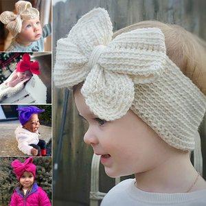 Baby-Kaninchen-Stirnband Cotton Elastic-Haar-Band-Mädchen Bowknot Newborn Bow