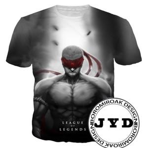 LOL T-shirt Männer Anime Shirts 3D Print T für Fans Cosplay Kostüm Tees Herren Sommer Tops Komfortable T-Shirt S-5XL 10 Arten