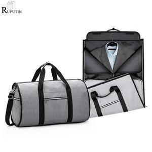 Portable Suit Storage Bag 2 in 1 Busines Travel Duffel Bag Men's Garment Shoulder Trip Handbag Clothing Luggage