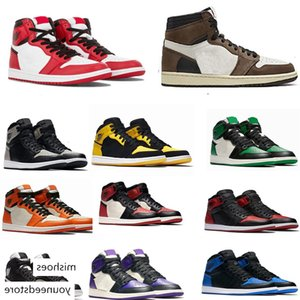 luxury 1 High OG Travis Scotts Basketball shoes Spiderman UNC Mens Homage To Home Royal Blue Men Sport Designer Sneakers Trainers Size 40-47