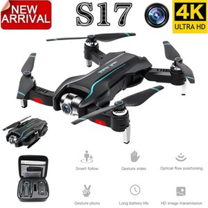 2019 New S17 RC Drone 4k with Dual Camera Optical Flow HD One-key Return Adjustable Angle Helicopter Quadcopter Toys
