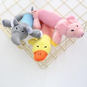 2020 netter beweglicher Haustier-Welpen Chew Quietsche quietschende Plüsch-weiche Piggy Elefant Ente Kugel Hund Tier Sounding Interactive Toys XD23335