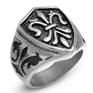 Men Ring Gothic Magical Anchor 316 Stainless Steel Devil Biker Illuminati Ring for Male Vintage Punk Fashion Jewelry to Husband