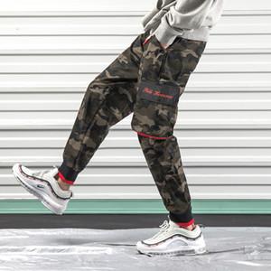 Cool2019 Leisure Man Season Time Ropa de trabajo fácil Camuflaje Haren Pants Youth Bound Feet Motion Pantalones