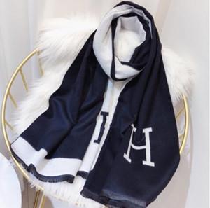 أزياء ذات جودة عالية جديد مصمم العلامة التجارية وشاح الصوف والحرير والأوشحة الكشمير النساء الفاخرة شال مربع