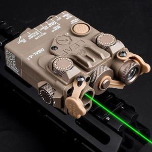 새로운 사냥 레이저 시력 에어건 DBAL-A2 미니 소총 전술 PEQ 녹색 IR 레이저 백색 LED 빛 조명기 배터리 박스