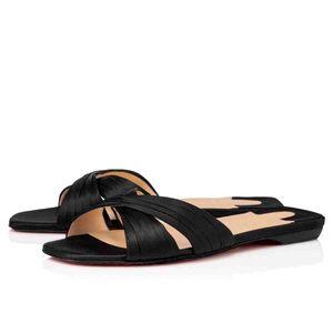 Kadınlar Yaz Sandalet Sliper Kırmızı Alt Tasarımlar, Kadın Günlük Moda Ayakkabı saten Yeni Stil Nicols Is Geri Kadınlar Kırmızı Taban Sandal Flats baskılar