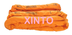 100TX5M---30M 6:1 High tensile Eye-eye soft round sling industrial grade lifting sling polyester fiber strap tree glass