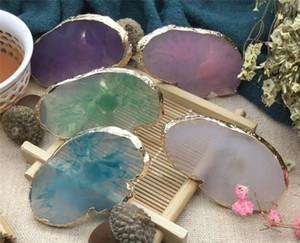 Nueva Salud Resina Color de piedra arte de uñas anillo del dedo anular de uñas Paleta placa de acrílico Fundación polaco ULTRAVIOLETA del gel de uñas crema de mezcla equipo del arte