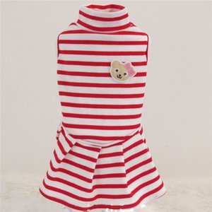 Small Dogs Dresses Stripe Wedding Princess Skirt Clothing For Pets Party Dress Tutu Cats Dogs Clothes Cute Fashion cappotto cane