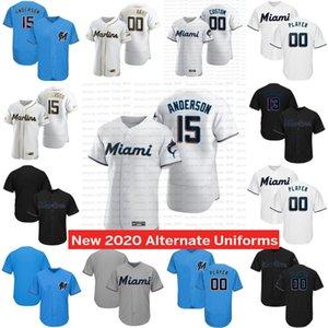coutume Miami 2020 Jersey Starlin Castro Jorge Alfaro Garrett Hommes Femmes jeunesse un nom un nombre 100% surpiqué 01